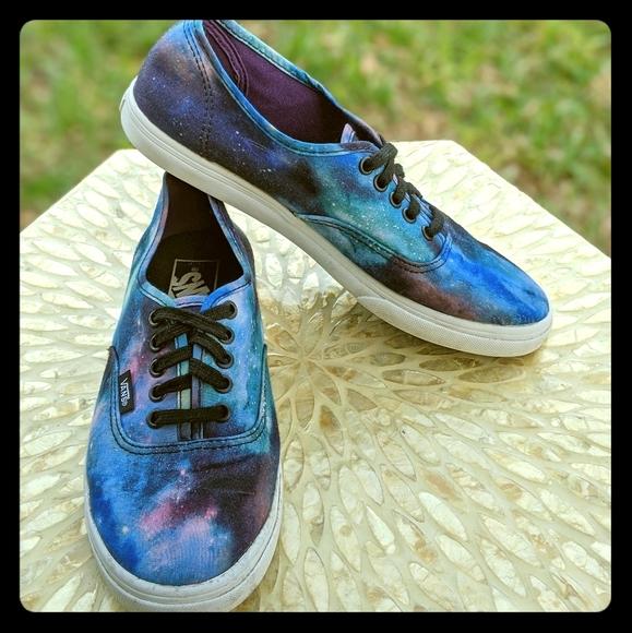 vans authentic lo pro cosmic galaxy blue